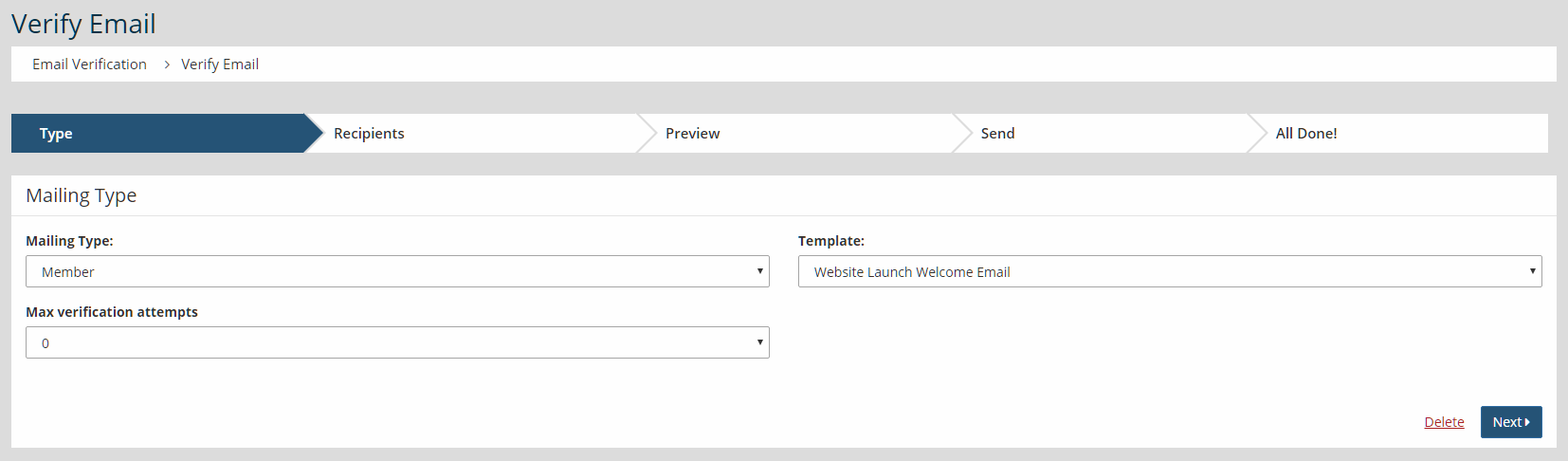 Communications-HowTo-Send Welcome Email To A Mix Of Verified Members - Website Launch Welcome Email Template