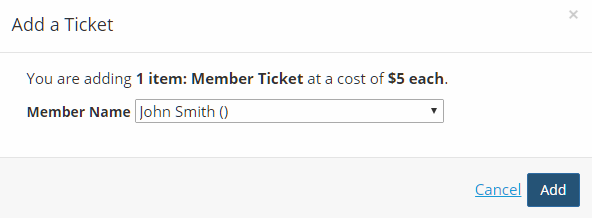 Meetings-HowTo-Allow Members To Buy Multiple Member Tickets - Add Tickets Drop Down