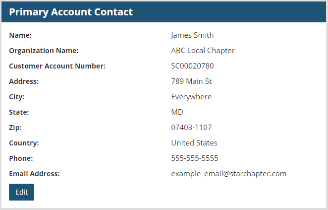 Primary Account Contact